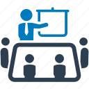 business meeting, businessman, conference, group meeting, meeting, meeting room, team meeting icon