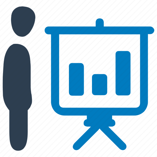 bar chart, business, financial, presentation, progress icon
