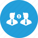 avatar, business, businessmen, communication, dollar, finance, money icon