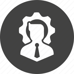account, avatar, business, man, person, profile, settings icon