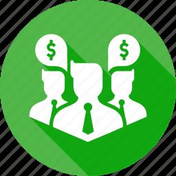 avatar, business, businessmen, dollar, finance, group, money icon