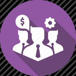 avatar, business, businessmen, company, dollar, finance, settings icon