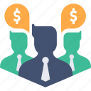 avatar, business, businessmen, dollar, finance, group, money icon
