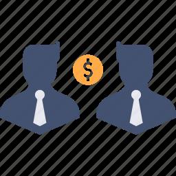 avatar, business, businessmen, communication, dollar, finance, money icon
