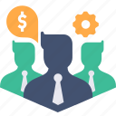 avatar, business, businessmen, company, dollar, finance, settings icon