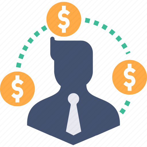 avatar, business, businessman, dollar, finance, man, money icon