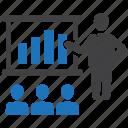 bar, business, chart, graph, presentation, report, seminar icon