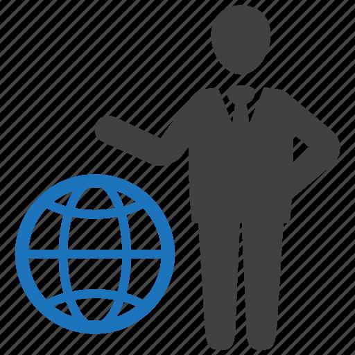 global business, leader, leadership, management, manager icon