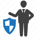 insurance, protection, protector, safety, security, shield icon