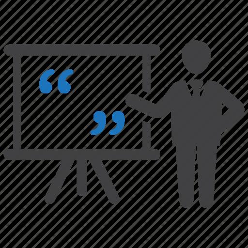 'Business Presentation - Blue gray glyph' by Minh Do