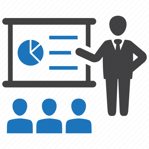 business, conference, meeting, presentation, seminar icon