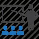 business, education, presentation, professor, teacher icon