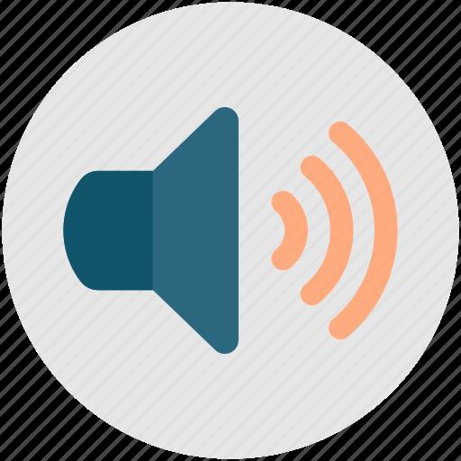 audio, sound on, speaker, volume, volume on icon