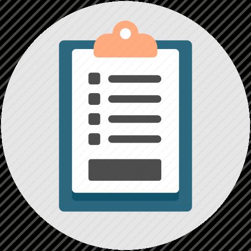 Assessment, checklist, clipboard, list, quiz icon | Icon ...
