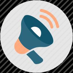 announcement, bullhorn, marketing, megaphone, sales icon
