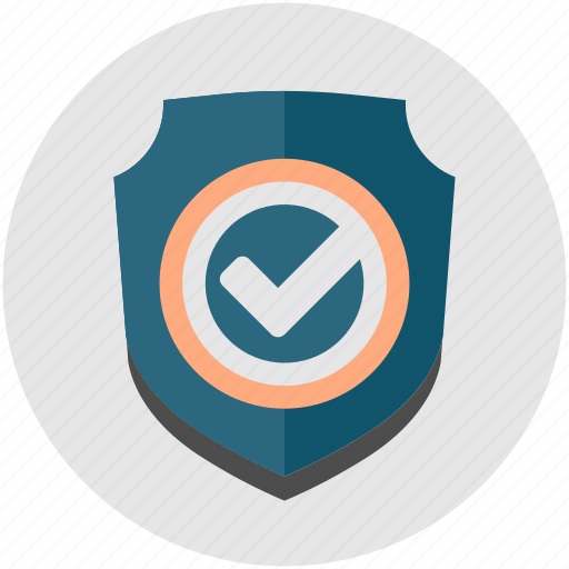 Shield, business, firewall, protection, tick, check icon