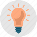 brainstorming, bright, bulb, genius, idea, light, productivity icon