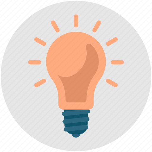 brainstorming, bright, bulb, genius, idea, light, productivity icon