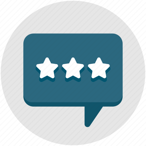chat, comment, communication, feedback, interview, stars icon