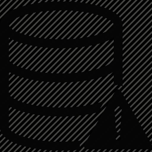 caution, database icon