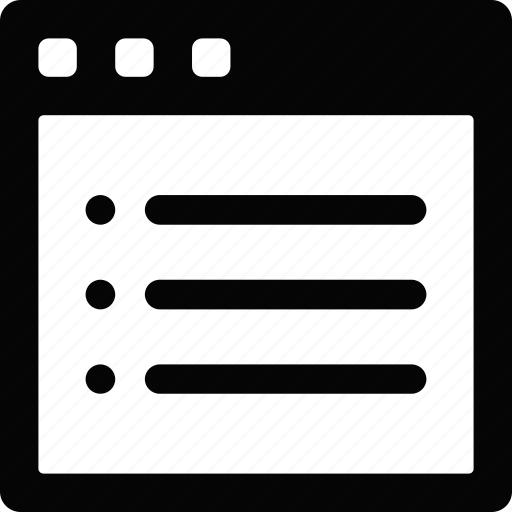 interface, list, window icon
