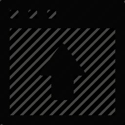 interface, upload, window icon