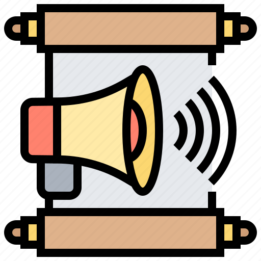 advertising, announcement, communication, report, speaker icon