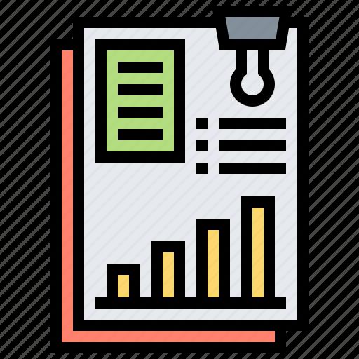 annual, brochure, marketing, page, report icon