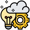 brainstorming, cloud, creative, idea, productivity icon