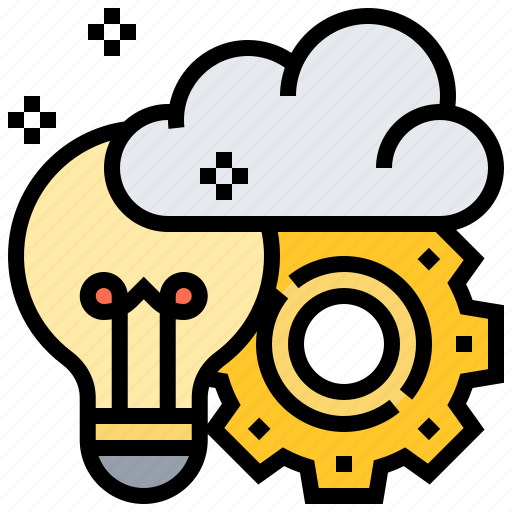 brainstorming, cloud, creative, idea, productivity icon