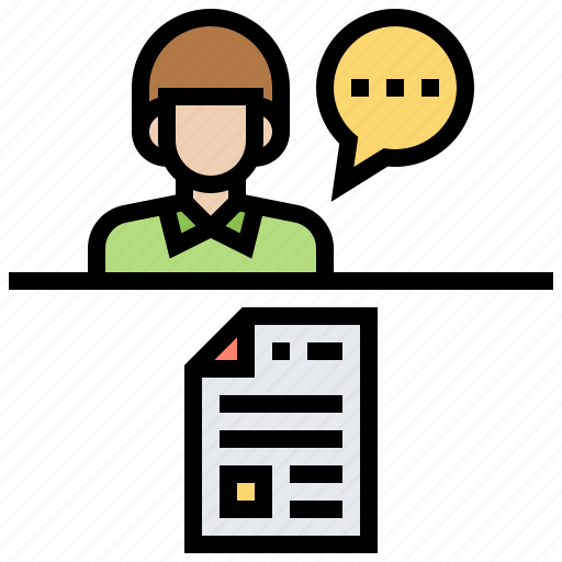 application, candidate, interview, recruitment icon