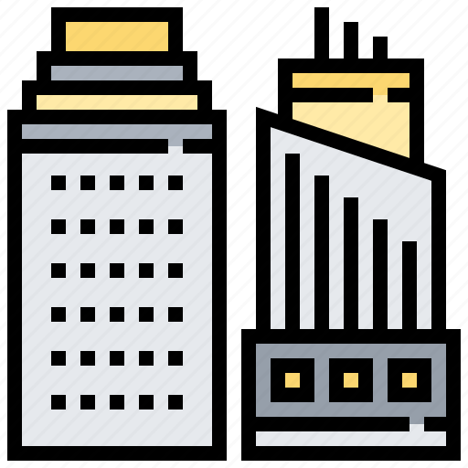 architecture, building, company, office, tower icon