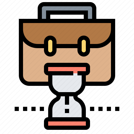 deadline, late, overtime, time, workplace icon