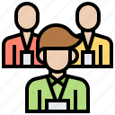 brainstorming, community, employee, staff, teamwork icon