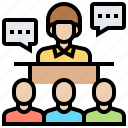 communication, conference, presentation, recruitment, training icon