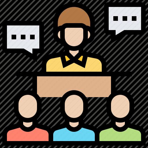 communication, conference, presentation, recruitment, training icon