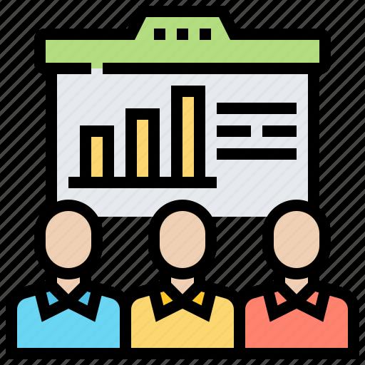 announcement, organisation, report, revenue, training icon