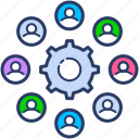 colleagues, cooperation, group, team work icon, teamwork