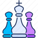 advantage, business, chess, elements, martial icon, strategy, tactical icon