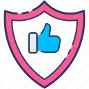 accepted, approved, checked, quality, rating icon, shield, valid