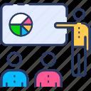 analytics, blackboard, board, diagram icon, lecture, presentation, training