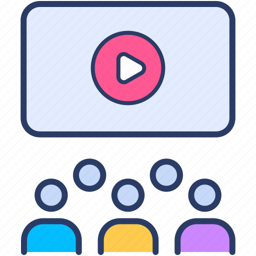 call, conference, online, teleconference, video, webinar icon icon