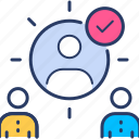 employee, job search, manager icon, recruitment, selection icon