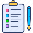 approved, backlog, checklist, plan icon, quality control icon