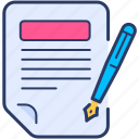 agreement, business, checklist icon, contract, deal, file