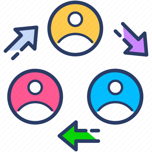 connection, employees, group, personnel, relationship, team icon, teamwork icon