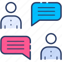 business, chat, collaboration, consulting, discussion, meeting icon icon