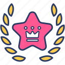 bagde, best, crown, king, premium, service, service icon icon