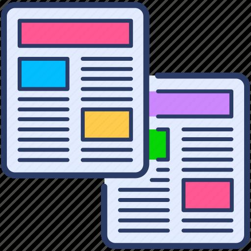 article, edition icon, media, news, newspaper, publication icon