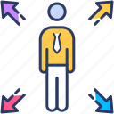 business, hunter, interaction icon, positioning, strategy icon